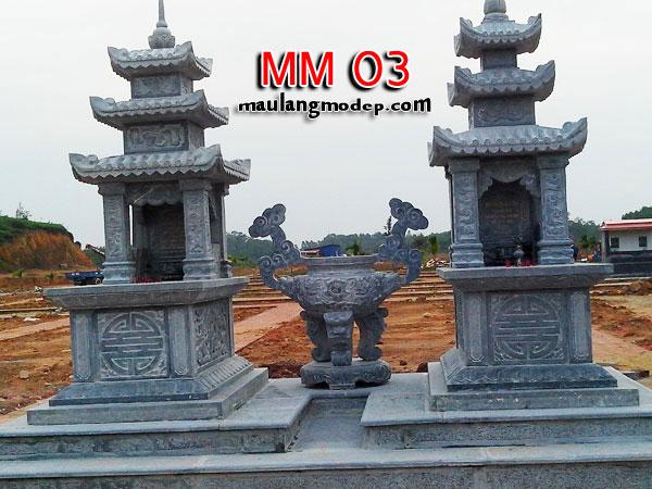 mộ ba mái đá