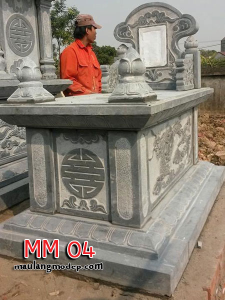 mộ đá không mái MM 04 , mộ đá hậu bành