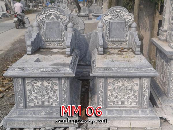 mẫu mộ đá tam sơn không mái MM 06