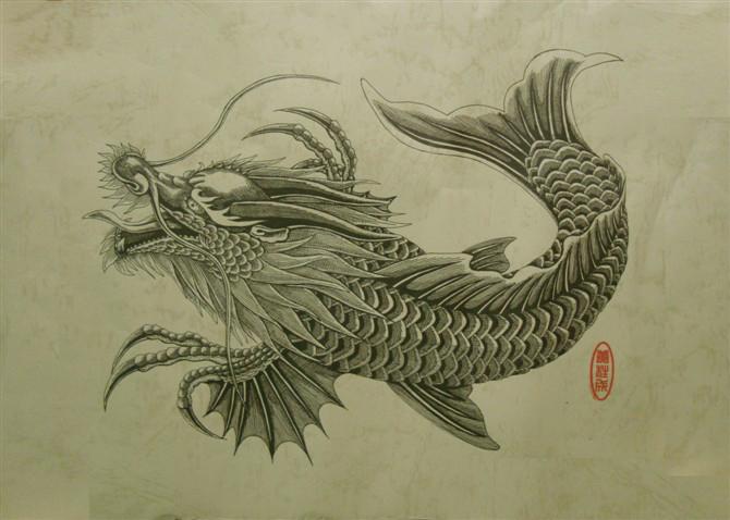 tượng cá chép hóa rồng