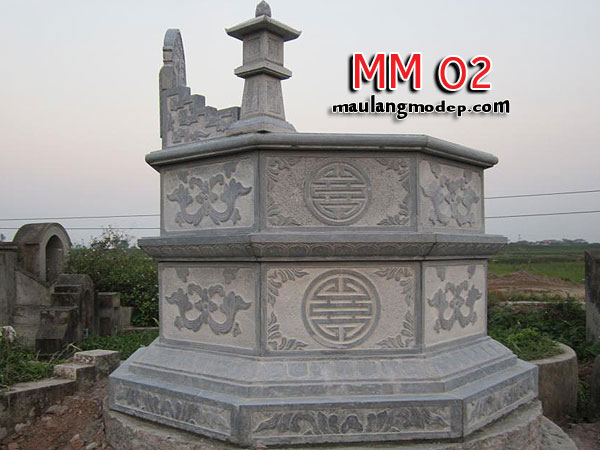 Mộ bát giác đá MM 02