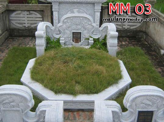 Mộ bát giác đá MM 03