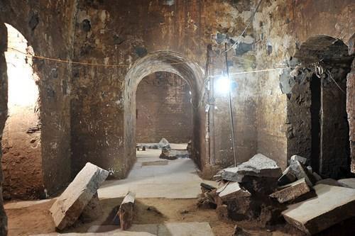 Lối vào khu mộ được cho là của Tào Tháo.