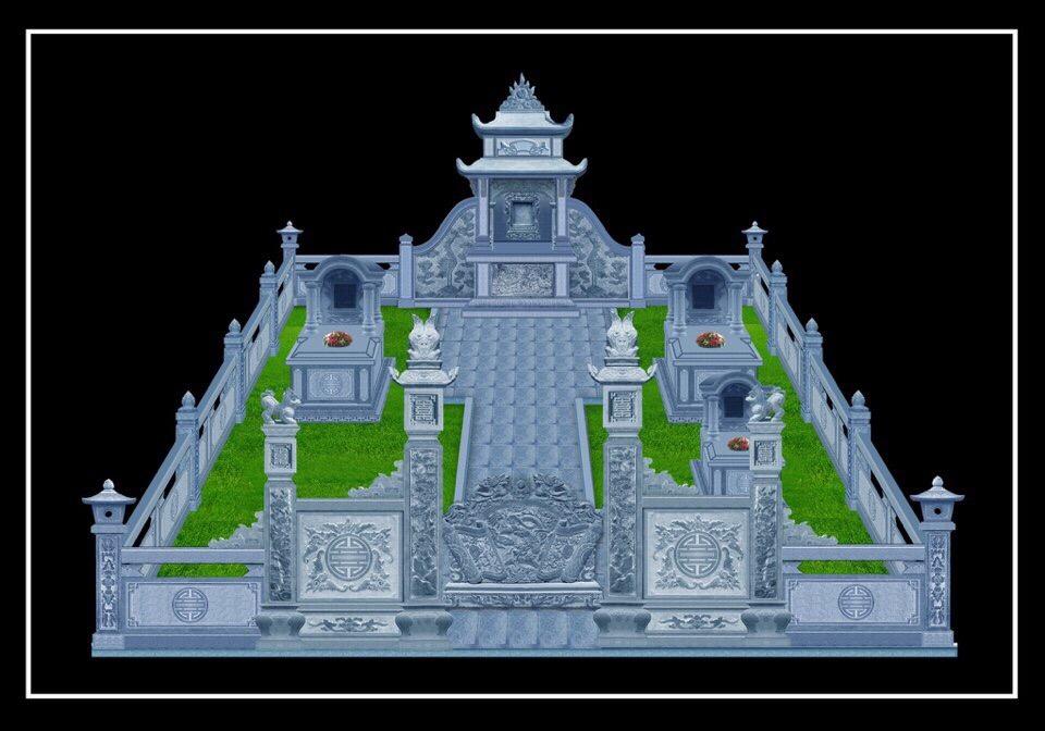 bản thiết kế khu lăng mộ