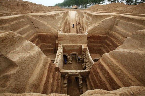 Khu lăng mộ được cho là của Tào Tháo ở tỉnh Hà Nam, Trung Quốc.