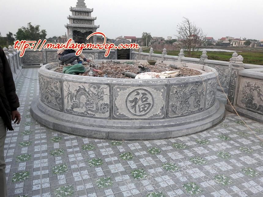 Mẫu mộ tròn đá đẹp