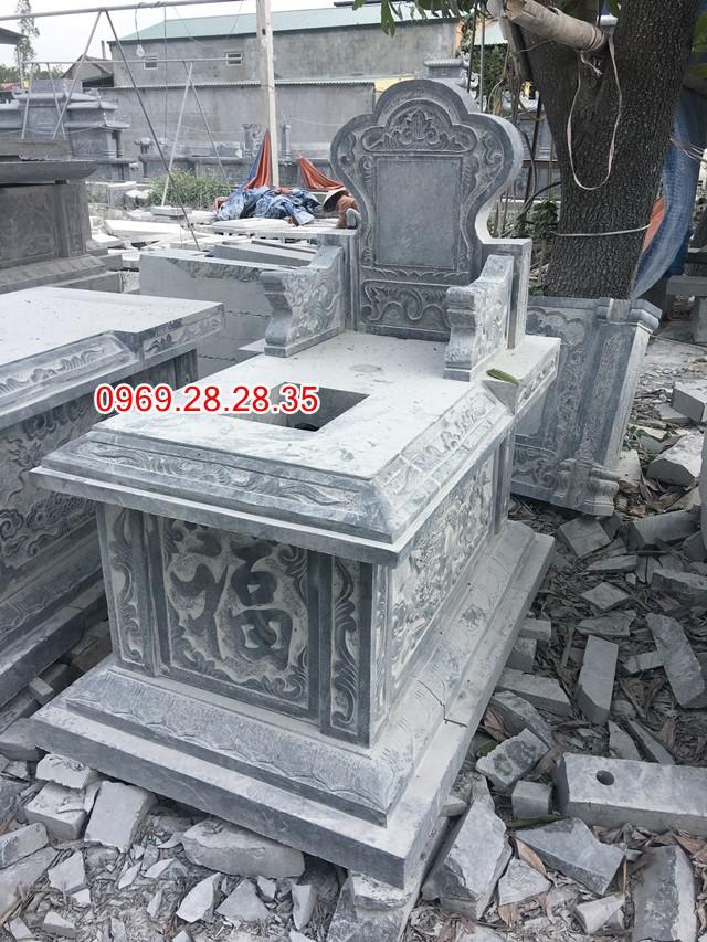 Mẫu mộ đá không mái che , kích thước 81x133 cm