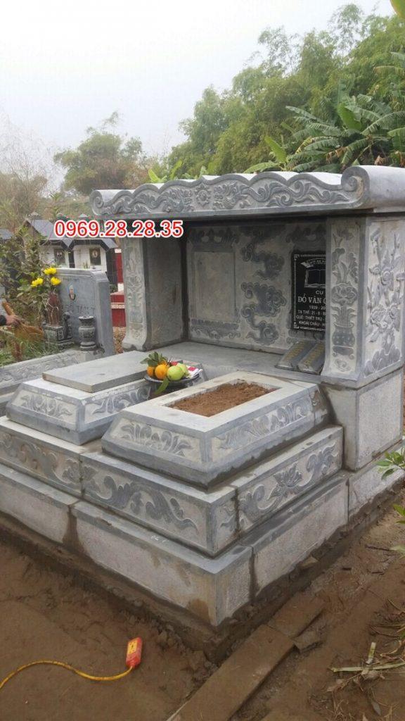 Mẫu mộ đá đôi có mái