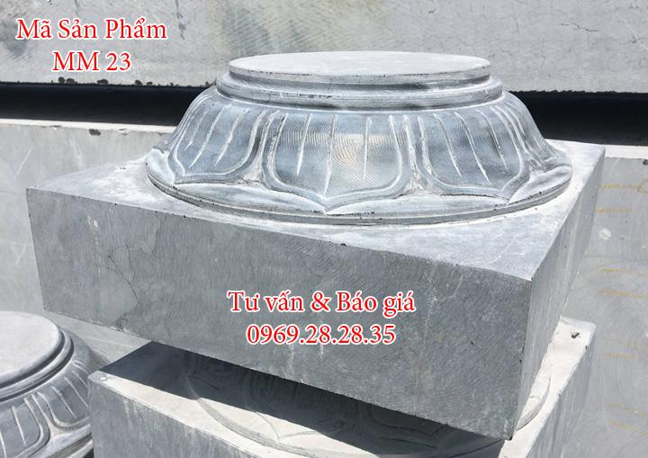 chân cột nhà bằng đá
