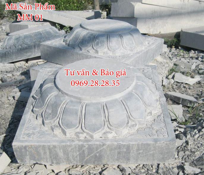 Đế đá kê cột tròn
