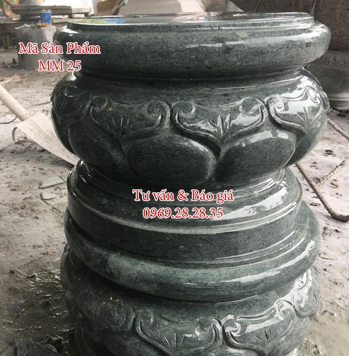 đế đá xanh rêu dùng kê cột