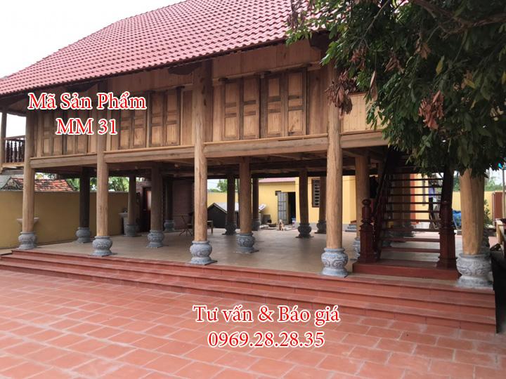 Lắp đặt đá kê cột nhà đẹp tại Thái Bình